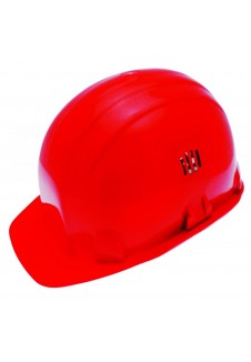 casque de chantier rouge