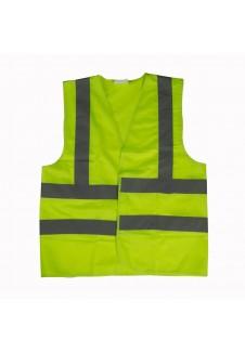 Gilet de chantier haute visibilité jaune