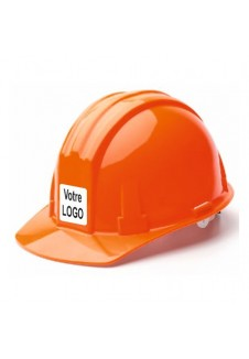 casque de chantier orange